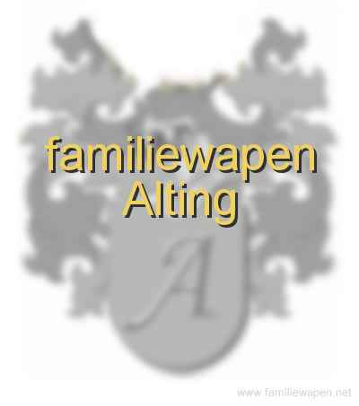 familiewapen Alting