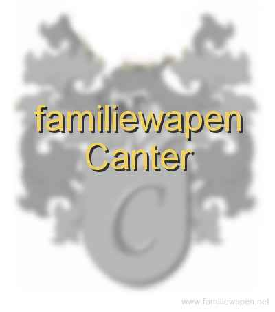 familiewapen Canter