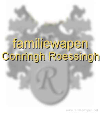 familiewapen Conringh Roessingh