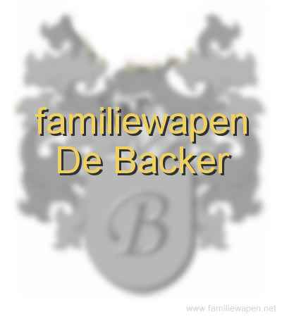 familiewapen De Backer