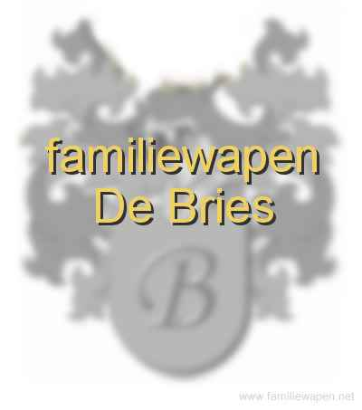 familiewapen De Bries