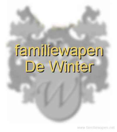 familiewapen De Winter