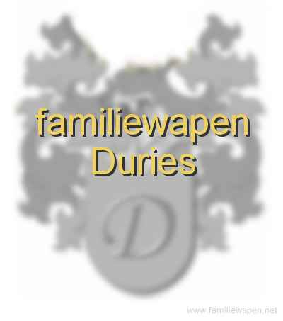 familiewapen Duries