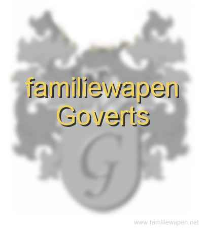 familiewapen Goverts