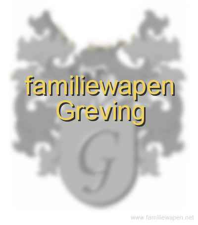 familiewapen Greving