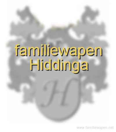 familiewapen Hiddinga