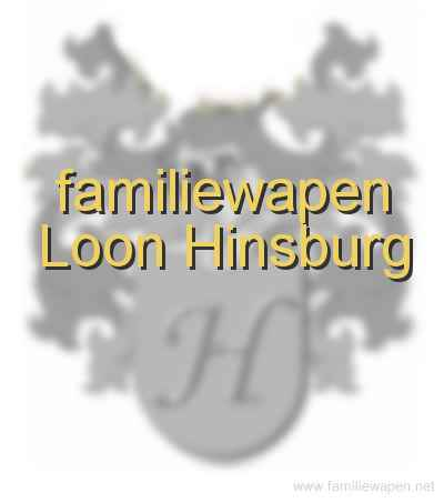 familiewapen Loon Hinsburg