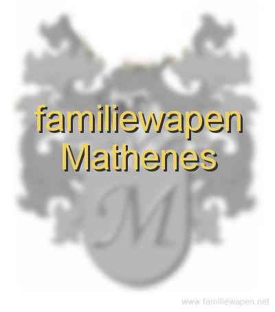 familiewapen Mathenes
