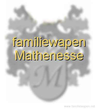 familiewapen Mathenesse